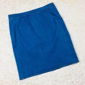 Vince Camuto Size 10 Skirt Blue Denim Straight